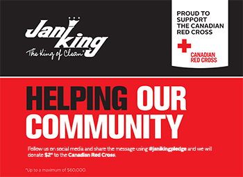 Jani-King Canada donates $2* for every post using #janikingpledge