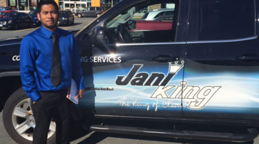 Jani-King Business Owner Dressed For Success