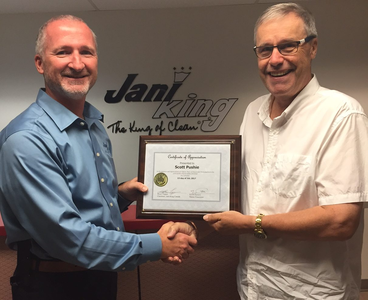 Jani-King of Nova Scotia Franchisee Signs Again After 15 Years