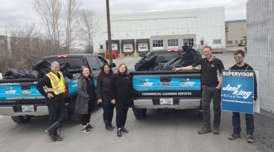 Jani-King celebrates Earth Day cleaning up Ottawa streets