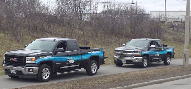 Jani-King-Ottawa-Trucks-Hauling-Garbage-For-Clean-Up-Event