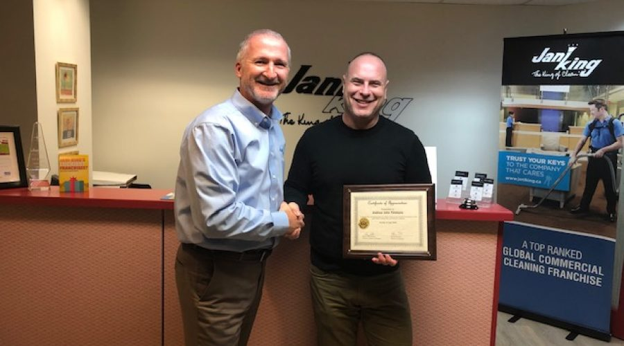 Andrew Timmons Celebrates 15 Years with Jani-King