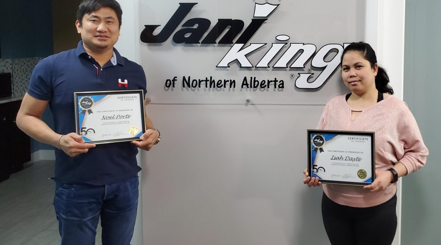 Jani-King of Northern Alberta Welcomes New Franchisees Isah & Noel