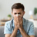 Cough into tissue