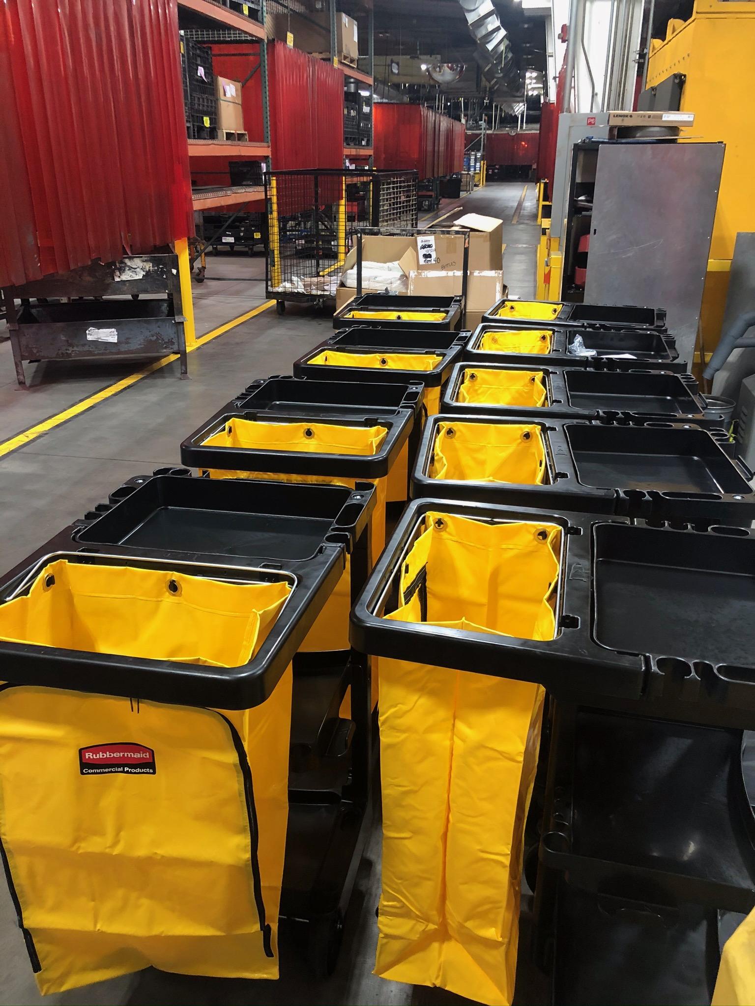 Cleaning Supplies at Polaris Facility