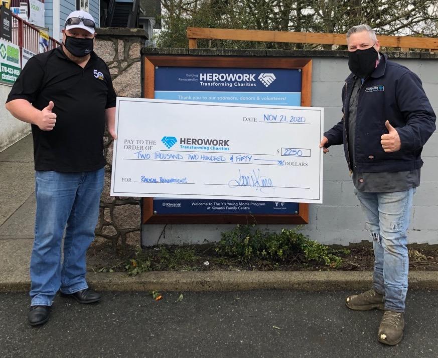 Jani-King of Vancouver Island makes donation to HeroWork