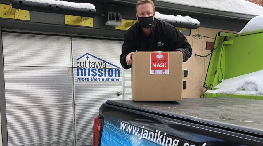 Jani-King Donates PPE to the Ottawa Mission