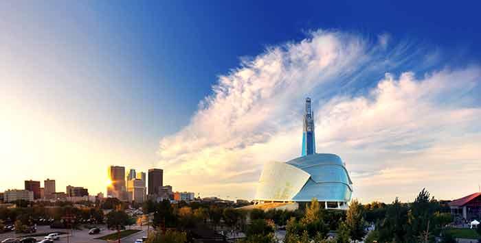 Winnipeg-Manitoba-Skyline-with-Human-Rights-Museum
